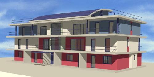 edificio appartamenti - acciaio